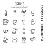 set of drinks icons in modern... | Shutterstock .eps vector #553666039