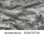 gray camouflage fabric texture... | Shutterstock . vector #553670710