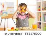 Funny Little Child Eats Health...
