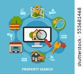 flat design real estate concept ... | Shutterstock .eps vector #553681468