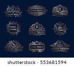 luxury labels design set with... | Shutterstock .eps vector #553681594