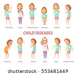 isolated characters set with... | Shutterstock .eps vector #553681669