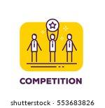 vector business illustration of ... | Shutterstock .eps vector #553683826