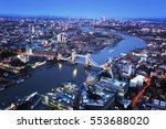 london aerial view with tower... | Shutterstock . vector #553688020