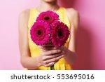 bunch of gorgeous gerbera daisy  | Shutterstock . vector #553695016