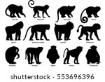 Big Set Of Silhouettes Of...