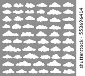 cloud set design clean vector | Shutterstock .eps vector #553696414