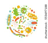 bacterial microorganism in a... | Shutterstock .eps vector #553697188