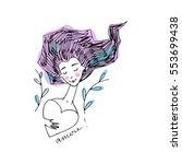 romantic girl doodle