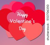 red valentine background with... | Shutterstock . vector #553706350