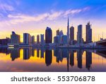 view on skyscrapers in modern... | Shutterstock . vector #553706878