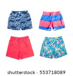 collage of different shorts for ... | Shutterstock . vector #553718089