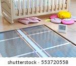 heating concept. underfloor... | Shutterstock . vector #553720558
