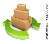 a group of cardboard boxes in... | Shutterstock . vector #553730440