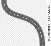 raster illustration curved road ... | Shutterstock . vector #553732390
