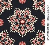 luxury star damask seamless... | Shutterstock .eps vector #553732714