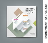 cover new annual report... | Shutterstock .eps vector #553733530