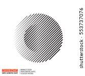 minimalistic geometric design... | Shutterstock .eps vector #553737076