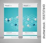 brochure cover design. abstract ... | Shutterstock .eps vector #553737643