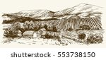 wide view of vineyard. vineyard ... | Shutterstock .eps vector #553738150