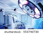 lamp in operating room in... | Shutterstock . vector #553740730