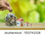 savings plans for housing ... | Shutterstock . vector #553741528