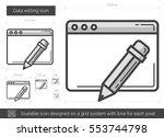 data editing vector line icon... | Shutterstock .eps vector #553744798