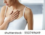 heart health care. closeup of... | Shutterstock . vector #553749649