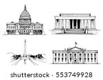united states capitol building  ... | Shutterstock .eps vector #553749928
