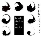 vector set of grunge brush... | Shutterstock .eps vector #553751890