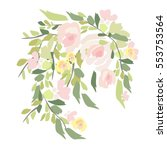 flowers illustration | Shutterstock . vector #553753564
