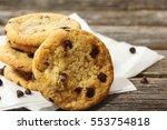 gluten free chocolate chip...   Shutterstock . vector #553754818