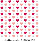 seamless valentines day polka... | Shutterstock .eps vector #553757110