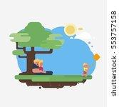 family in nature | Shutterstock .eps vector #553757158