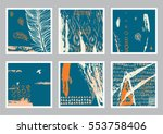 vector hand drawn set of... | Shutterstock .eps vector #553758406