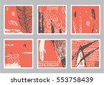 vector hand drawn set of... | Shutterstock .eps vector #553758439