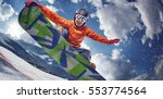 sport background. winter sport. ... | Shutterstock . vector #553774564