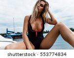 sexy girl on the beach | Shutterstock . vector #553774834