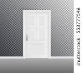 closed door isolated on...   Shutterstock .eps vector #553777546