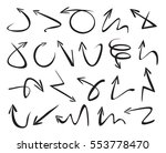 set of black arrows. vector... | Shutterstock .eps vector #553778470