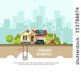 green energy an eco friendly... | Shutterstock .eps vector #553788874