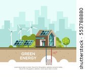 green energy an eco friendly... | Shutterstock .eps vector #553788880