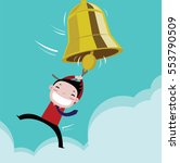 businessman happy with the bell ... | Shutterstock .eps vector #553790509