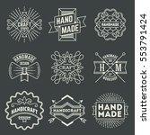 handmade craft insignias... | Shutterstock .eps vector #553791424
