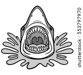 shark attack bite illustration | Shutterstock .eps vector #553797970