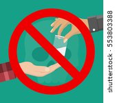no drugs concept. reject drugs...   Shutterstock .eps vector #553803388