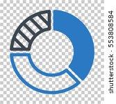 pie chart icon. vector... | Shutterstock .eps vector #553808584