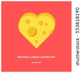 national cheese lovers' day  ... | Shutterstock .eps vector #553818190