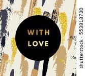 romantic love creative ...   Shutterstock .eps vector #553818730