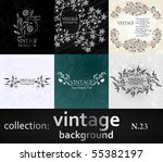 collection vintage background | Shutterstock .eps vector #55382197
